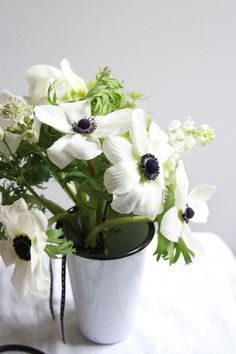 Black and White Anemones.