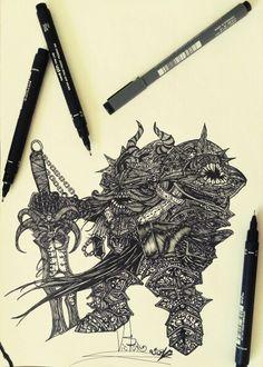 Desenho finalizado DARK SOULS 3