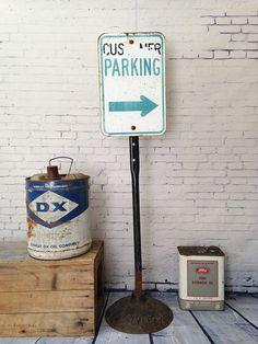Vintage 1950s Parking Sign Adjustable by WyrembelskisVintage