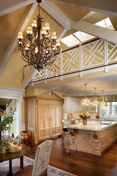 Stunning French Countryside Kitchen with Open Beamed Ceiling - Cebula Design Beautiful Kitchens, Beautiful Homes, Beautiful Life, Countryside Kitchen, French Countryside, Architecture Design, Estilo Country, Decoration Design, Interior Design Kitchen