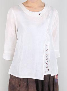 상품대표이미지 Sari Dress, Blouse Dress, Assymetrical Dress, Bohemian Look, How To Make Clothes, Couture Tops, Kurta Designs, Western Dresses, Summer Outfits Women