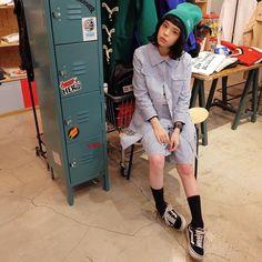 昨日のラフォーレプライベートパーティのドレスコードはグリーン ということでAymmy/VANSのニット帽 お客さんもみんなグリーンで館内が緑化かわいかったです 今日から売場が少し変わったから見に行ってみて @batty_garage by setoayumi