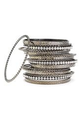 Cara Accessories Multi Media Bangles (Set of 19)  $58.00