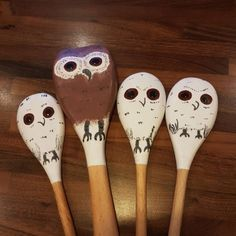 The owl who was afraid of the dark Wooden Spoon Crafts, Wooden Spoons, Book Area, Owl Who, Story Sack, Eyfs Activities, Afraid Of The Dark, Sacks, Owls
