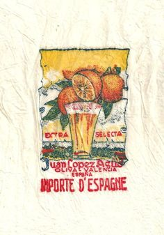 vintage tissue paper fruit wrappers + history #advertising #design #packaging