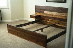 Distressed Wood Bed Frame Reclaimed Wood Bed