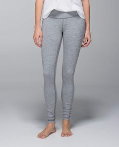 We created these pants to be a no-fuss tight for our yoga practice, but we just couldn't stop wearing them. Made of our signature four-way stretch Luon® fabric with a second-skin fit, they give us room to move and sweat from backbends to box jumps. Lulu Love, Under Pants, Wunder Under, Athletic Outfits, Workout Wear, Yoga Pants, Lululemon, Pants For Women, Tights