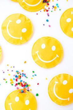 emoji party favours - printable