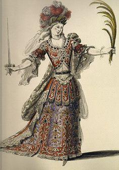 Costume de la Victoire pour le prologue de Proserpine 1680