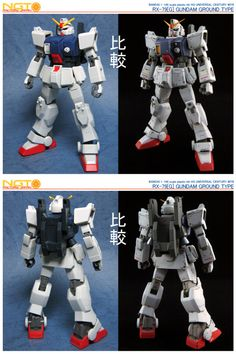 1/144 Gundam RX-79(g) by NGT Factory really loving the before & after pics you can see what work has gone into this.  Respect  This has been tagged with 1/144, gundam, RX-79(g), gundam RX, NGT Factory, gunpla, before and after, scribing, panel lines, custom gunpla,