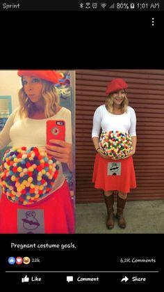 Halloween costume idea for pregnant woman