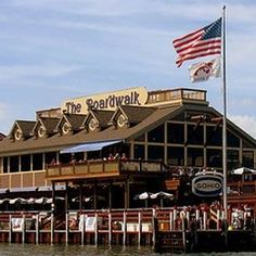 The Boardwalk, Put-in-Bay, South Bass Island, Ohio. The village is a popular summer resort and recreational destination. Ferry service connects the community with Catawba Island, Kelley's Island, Port Clinton, and Sandusky, Ohio.