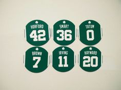 Bring your wall alive with the core superstars of the Boston Celtics! Kyrie Irving, Refrigerator Magnets, Boston Celtics, Basketball, Fan, Brown, Gifts, Presents, Brown Colors