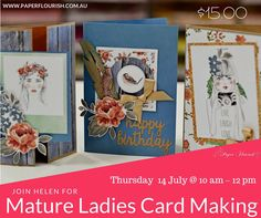 Craft Lessons in Adelaide - July Paper Flourish Lessons