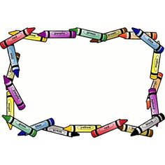 free clip art for teachers clip art of a crayon page border rh pinterest com free school clipart borders frames school clipart borders and frames free