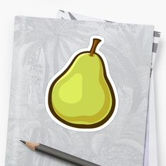'Fruit Collection - Pear' Sticker by manfex Canvas Prints, Framed Prints, Art Prints, Pears, Long Hoodie, Wall Tapestry, Decorative Throw Pillows, Artists, T Shirts For Women