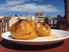 Manzanas asadas con azúcar de coco, canela, nuez moscada y zumo de limón #recipe #receta #food #comida #manzanas