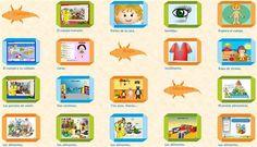 contenidos educativos digitales para Materno o Infantil clasificada en: COMUNICACIÓN y representación, AUTONOMÍA personal y Conocimiento del ENTORNO.