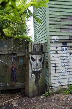 Hoodoo Magick Rootwork:  Voodoo Alley, New Orleans, Louisiana, USA.