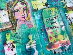 Addicted to Art: Isolation Skype Craft 4 - Journalling Dina style My Journal, Art Blog, Altered Art, Addiction, Weird, Card Making, Journalling, Projects, Cards