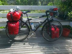 Vivente with Ortlieb panniers. Beautiful!