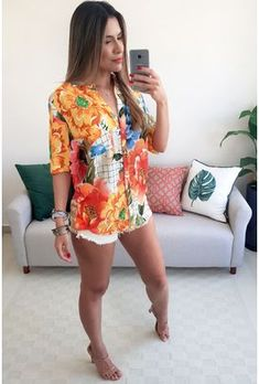 Mini Skirt Dress, Mini Skirts, Camisa Maxi, Girl Outfits, Casual Outfits, Look Fashion, Womens Fashion, Samba, Vintage Floral