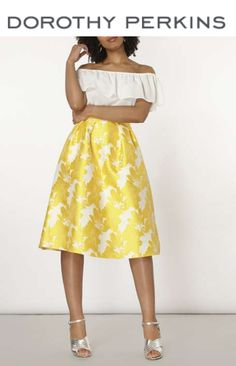The colour everyone is talking about this summer......Yellow! We have the perfect floral skirt for just you!    #floralskirt #yellowskirt #occasionwear