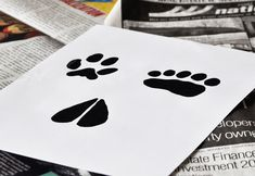 Animal tracks downloadable stencil templates!