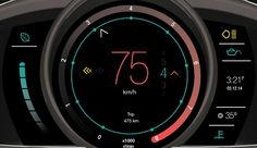 in car dashboard UI design 7 17 Examples Of Brilliant Car UI and HUD Design