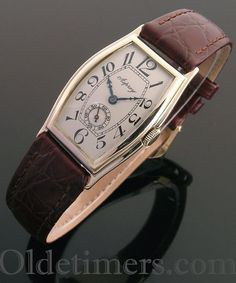 1920s 9ct gold tonneau vintage Asprey watch (3548)