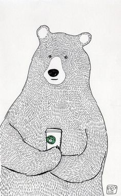 Bear by Daniela Di Gennaro, via Behance