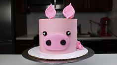 Easy Baby Pig Cake Tutorial - Recipe and full instructions!