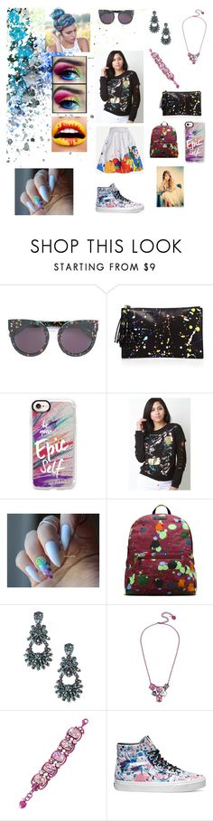 """Splatter Paint Look"" by abigailallen-1 ❤ liked on Polyvore featuring Loeffler Randall, Casetify, Dr. Martens, Sole Society, Betsey Johnson and Vans"