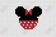 "Minnie Pixel Art Minerva ""Minnie"" Mouse is a funny animal cartoon character created by Ub Iwerks and Walt Disney. She was first drawn by Iwerks in as was Mickey Mouse. Disney Kawaii, Art Disney, Disney Toys, Simple Cross Stitch, Cross Stitch Baby, Disney Cross Stitch Patterns, Cross Stitch Designs, Cross Stitching, Cross Stitch Embroidery"