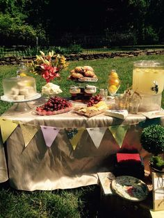 French country picnic in the park baby shower party! See more party ideas at CatchMyParty.com!