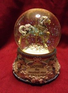 San Francisco Music Box 'Mother' Carousel Waterglobe-Plays Memory - Ellen Kamysz #SanFranciscoMusicBoxCo