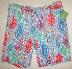 LILLY PULITZER 4 Multi LET MINNOW Chipper Bermuda Shorts NWT 4 #LillyPulitzer #BermudaWalking