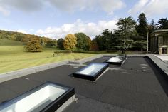 Multiple fixed flat rooflights on a flat roof extension Roof Extension, Roof Light, Noise Reduction, Flat Roof, Skylight, Room Ideas, Flats, Summer, House