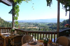 Auberge du Soleil, Rutherford, CA This view is amazing, good wine & food!