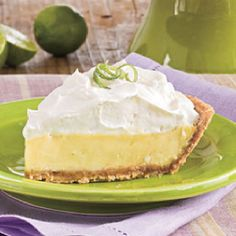 Key Lime Pie  1 1/4 cups graham cracker crumbs  1/4 cup firmly packed light brown sugar  1/3 cup butter or margarine, melted  2 (14-ounce) cans sweetened condensed milk  1 cup fresh Key lime juice*  2 egg whites  1/4 teaspoon cream of tartar  2 tablespoons granulated sugar  Preparation  Combine first 3 ingredients. Press into a 9-inch pieplate.  Bake piecrust at 350° for 10 mins or until lightly browned; cool.  Stir together sweetened condensed milk & lime juice until blended. Pour into…