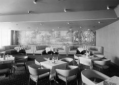 Interiores - sala de refeições. Fotógrafo: Estúdio Horácio Novais. Data de produção da fotografia original: 1965-66.  [CFT164.162991.ic]