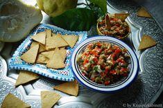 Low Carb Kichererbsenckracker mit Auberginenkaviar (vegan und glutenfrei)