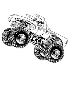 Monster Truck Coloring Page Monster Jam, Monster Trucks, Festa Monster Truck, Monster Truck Birthday, Monster Energy, Monster Truck Drawing, Monster Truck Coloring Pages, Cars Coloring Pages, Coloring Pages To Print