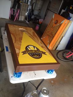 My talented husbands corn hole boards #business