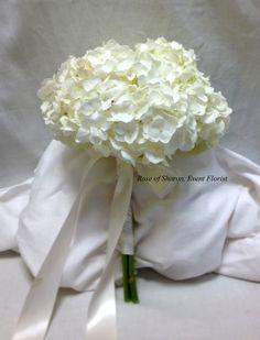 White Hydrangea Bouquet--> i added white roses to mine...i looovedd it!!