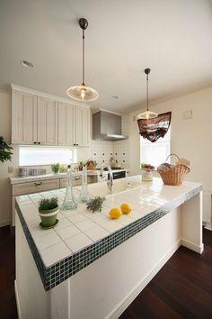 オープンキッチンで愉しい時間♡家族の団らんの中心は台所に。