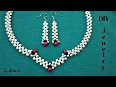 How to make an elegant jewelry set. Beading tutorial - YouTube