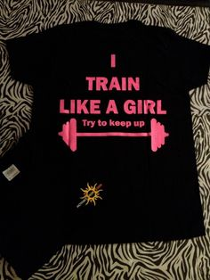 TRAIN LIKE A GIRL - Tanks are American Apparel and we have tees also. Available at: http://hopenagy.com/motivatehopestrength___hope_nagy/Tanks&Tees.html #fitness #workout #spin #bike #lift #train #weights #exercise #fitness gifts #exercise gifts #crossfit #weight train