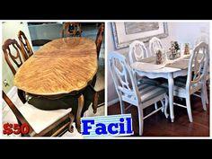 Como Pintar el Comedor Super Facil!! Mesa y sillas DIY - YouTube