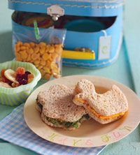 Use cookie cutters to make fun shaped sandwiches.